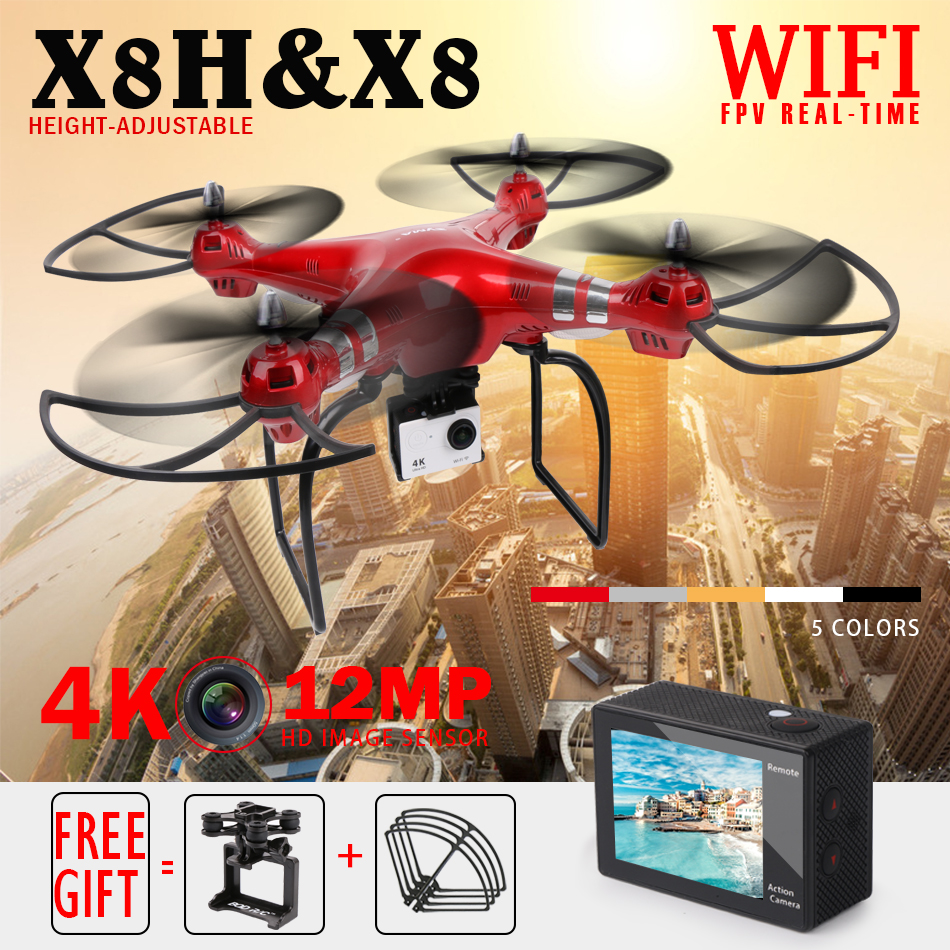 Syma X8 X8W FPV Quadcopter RC Drone with 4K/1080P Camera HD 2.4G 6Axis RTF RC Helicopter VS Syma X8HG X8HW Hover Drones rc drone with camera wifi real time video fixed high hover rc quadcopter fpv drone jjrc h11wh flying camera helicopter drones
