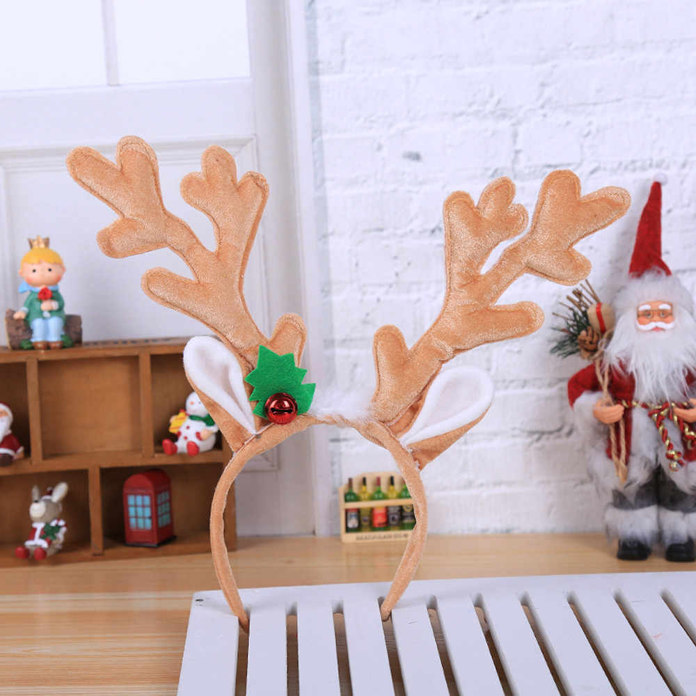 Новогодняя декоративная повязка на голову с Рождеством ободок в виде лося Санты рождественские вечерние волосы оленя Группа Рождество Navidad 2019 волосы голова игрушки