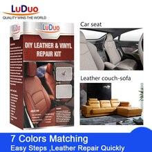 LuDuo Ремонтный комплект из жидкой кожи для чистки кожи автомобиля Реставратор для мебели, автомобильного сидения, дивана куртка поясная сумка обувь краска собственного приготовления уход за кожей