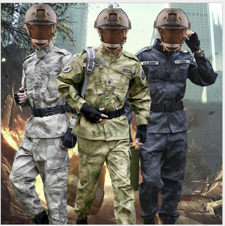 Tactical Military Men Camouflage Hunting Outdoor Protect Color Invisible Hiding clothes Army set Uniform for Angling on foot