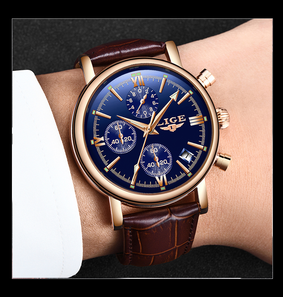 HTB1dAFXaYH1gK0jSZFwq6A7aXXah 2019 LIGE Business Leather Fashion Waterproof Quartz Watch For Mens Watches Top Brand Luxury Male Date Clock Relogio Masculino