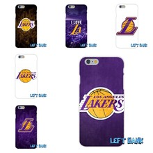 557b9e1d2954 Los Angeles Lakers logo Soft Silicone TPU Transparent Cover Case For  Samsung Galaxy Note 3 4 5 S4 S5 MINI S6 S7 edge
