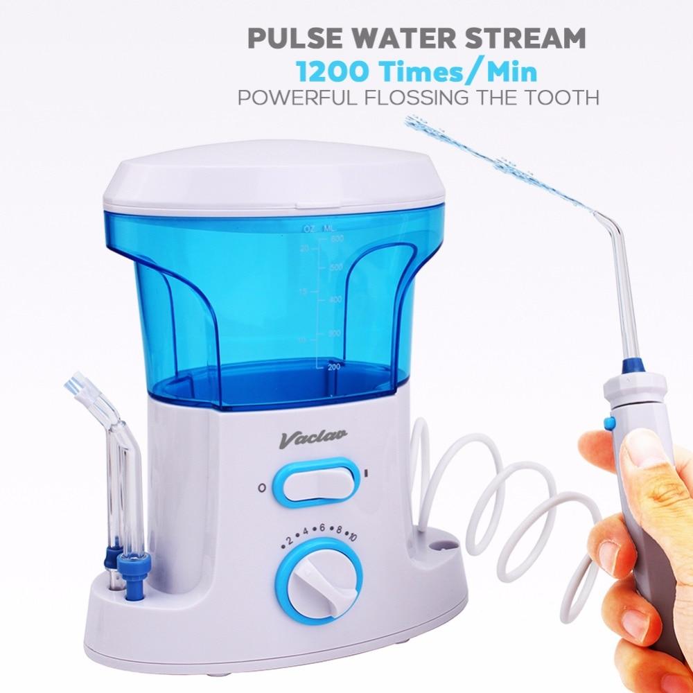 Vaclav Dental Flosser Irrigador Oral Agua Flosser Hilo Dental Irrigador Oral Dental Floss Agua Recogida de Agua Portátil Riego - 3