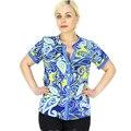 BFDADI 2016 Moda Geometria Marca Blusas Camisas Mulheres V Collar Tops Roupa Das Senhoras Blusa de Manga Curta Frete Grátis 2147-0