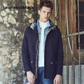 Hooded Cotton Jackets Young Men Fashion Outerwear Veste Male Coat Men Style Casual Outerdoors Jacket Male Casaco Masculino 166