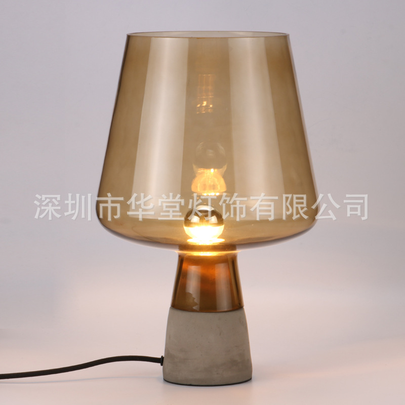 TUDA 2018 20X30CM Nordic Gray Cement Table Lamp Glass Lampshade Home Decorative Table Lamp for Bedroom E14 220VTUDA 2018 20X30CM Nordic Gray Cement Table Lamp Glass Lampshade Home Decorative Table Lamp for Bedroom E14 220V