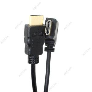 Image 2 - Đàn hồi Cuộn Mùa Xuân HDMI Cable Nam đến Nam V1.4 1080 P 3D Tinh Khiết Đồng HDMI Left & Right Góc Cạnh Cabo 0.6 m 2.0 m