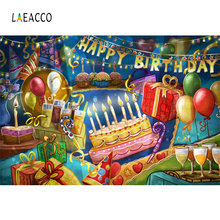 Laeacco Baby Party Happy Birthday Cake Candy Gifts Photography Backgrounds Customized Photographic Backdrops For Photo Studio
