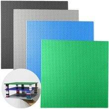 Маленькие частицы большая Нижняя пластина Базовая пластина строительные блоки Совместимые Legoings бренды строительные блоки строительные игрушки 32*32