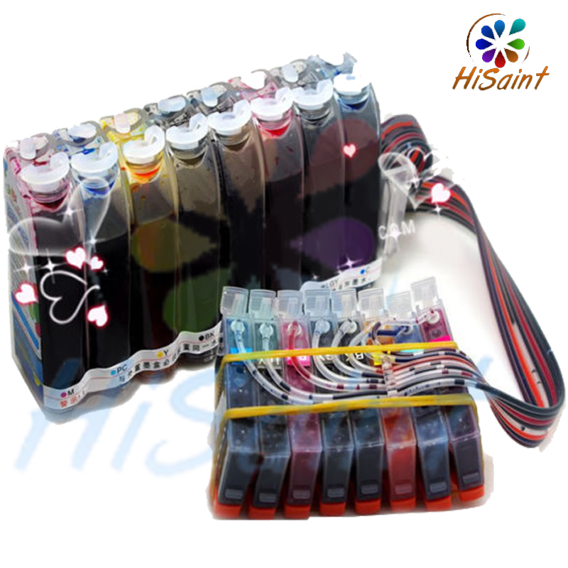 hisant Free shipping 2018 New Pixma Pro-100 Bulk Ink system CISS for Canon  42 CLI-42 ink cartridge CISS free chips marvo shl 301