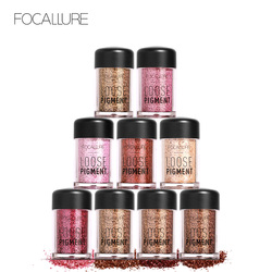 FOCALLURE 18 Colors Shimmer Shiny Pigment Powder Glitter Eye Shadow Lips Loose Makeup Woman Chameleon Colors
