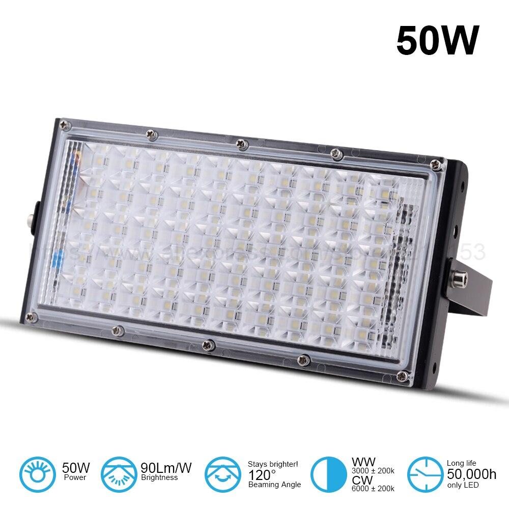 LED Flood lights 50W AC185~240V bill boards light Spotlight Super Bright Outdoor Lighting DIY Combination FloodLights  Aluminum