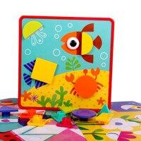 Creative Geometry Toys Genius Art 3D Puzzles Toys Mosaic Mushroom Nail Kit Toys For Children Kids Children's Educational Toys