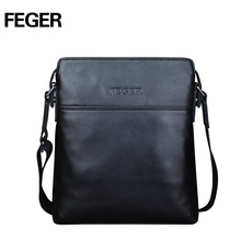 FEGER New Arrival Genuine Leather Men Bag Business Messenger Bag Shoulder Bag for Men Free Shipping