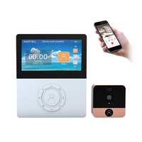 Security 1 0MP WiFi Wireless Digital Peephole Door Viewer 4 5 Screen Apartment Door Camera Wifi