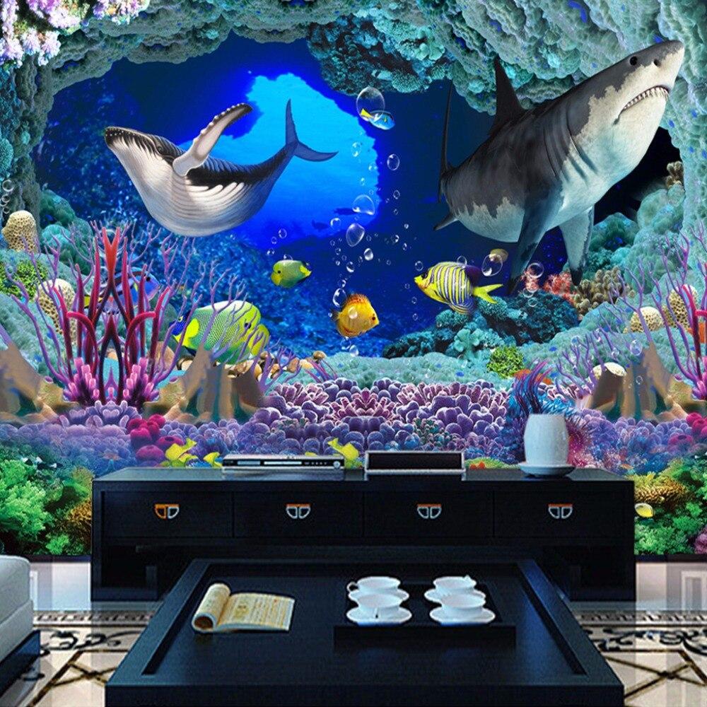 ᐅdunia Bawah Laut Kustom 3d Foto Kertas Dinding Hd Besar Lukisan