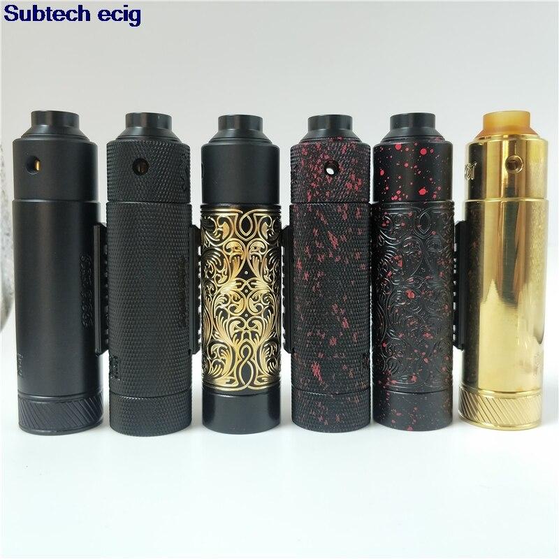 Nouveau purg claquement pièce Mod mécanique avec tir RDA vape kit 30mm 18350 18650 20700 21700 batterie 510 fil Mech Mod vape mods