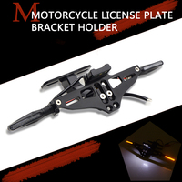 Motorcycle License Plate Bracket Holder Turn signal lights FOR suzuki gsx 650f honda cbr 250r cbf 150 kawasaki z 900 x max 300