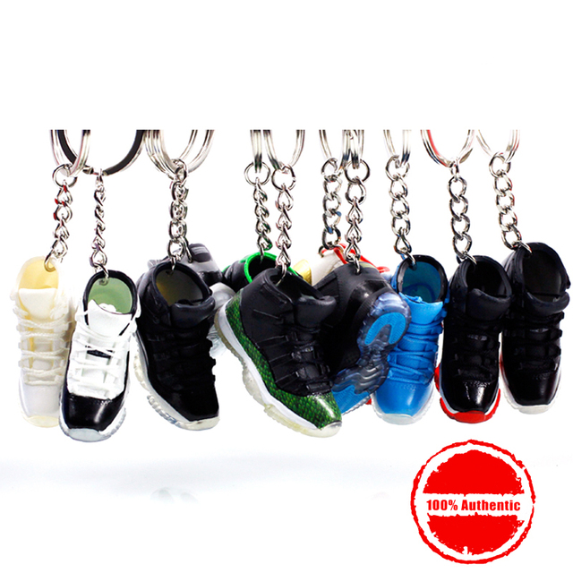 1a6173f39aa 3D Air Jordan Sneaker Keychains Mobile Phone Strap Lanyard for iPhone keys  Bag AJ Basketball Shoes Model Popular Gift Shoe Mold