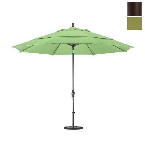 California Umbrella GSCUF118117-F55-DWV 11 ft. Fiberglass Market Umbrella Collar Tilt Bronze-Olefin-Kiwi-DWV строительный пылесос dewalt dwv 902 l
