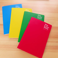 Wholesales 6 Colors Cute Korean Stationery Candy Color A5 School Notebook Office School Supplies Free Shipping