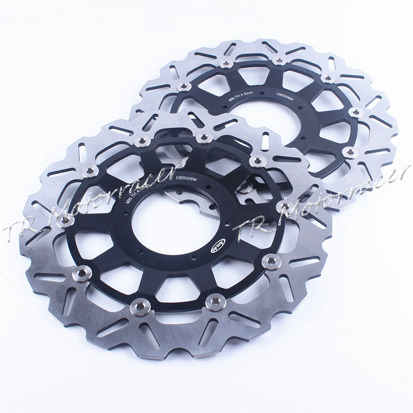 A pair Motorcycle Front  Brake Disc Rotors For Honda 2000 2001 CBR 929RR / 929 RR & 2002 2003 CBR 954RR / 954 RR front & rear motorcycle brake disc rotors for honda 2000 2001 cbr 929rr 929 rr & 2002 2003 cbr 954rr 954 rr