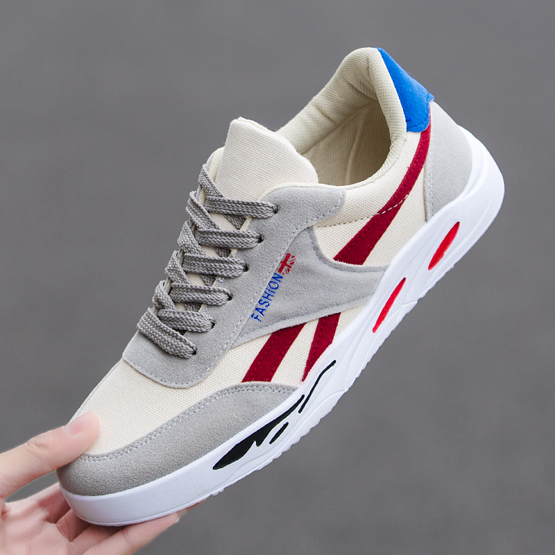2019 New Fashion Breathable Lace up Youth Casual adult Men Shoes Trend Wild Men Boy Walking Jogging Outdoor Sneakers in Men 39 s Casual Shoes from Shoes