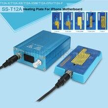 SS-T12A iPhone carte mère séparateur Station de chauffage pour iPhone X/XS/XS MAX CPU IC puces démontage colle dissolvant