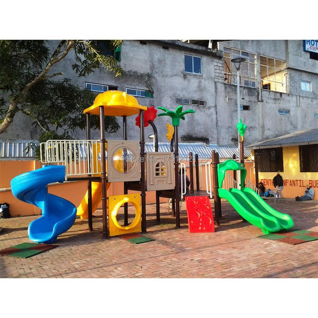 Exported To Venezuela Children Playground Anti Rust Outdoor Play Slide Safe Kids Equipment Hz 0092