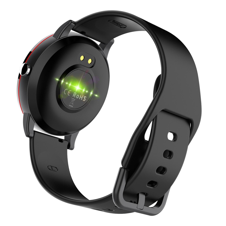 טלוויזיות 25-29 Imosi ש 19 Smart שעוני IP68 Smartwatch Waterproof נשי אופנת כושר מעקב לחץ דם ודופק צג להקה חכמה (4)