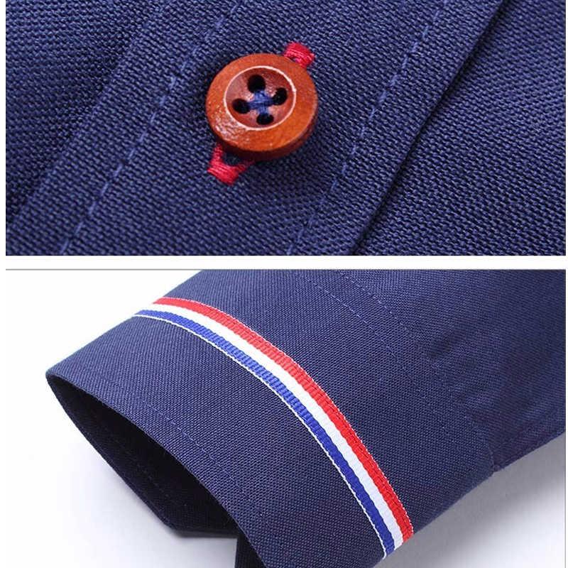 5XL Oxford Heren Overhemden Lange Mouwen Business Casual Shirt Kantoor mannen Slim Fit Kraagvorm Wit Blauw Roze Formele Doek