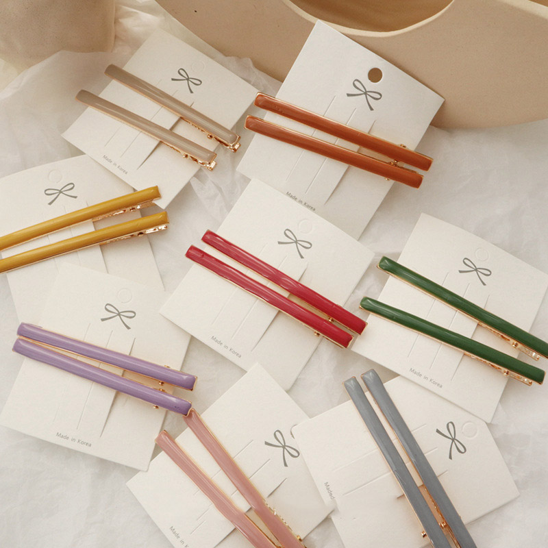 2PCS Korea Resin Geometric Irregular Rectangle Hair Clips Candy Color Waterdrop Hairpins For Women Hair Accessories
