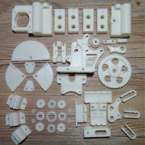 Reprap Prusa i3 3D printer parts printed partskit ABS free shipping new 26pcs abs printed parts kit for reprap prusa i3 rework black pla 3d printer diy durable quality