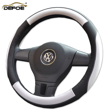 New Style Car steering wheel cover Four Seasons Auto car covers Diameter 36,38 cm Micro Faux Leather material freeshipping gift