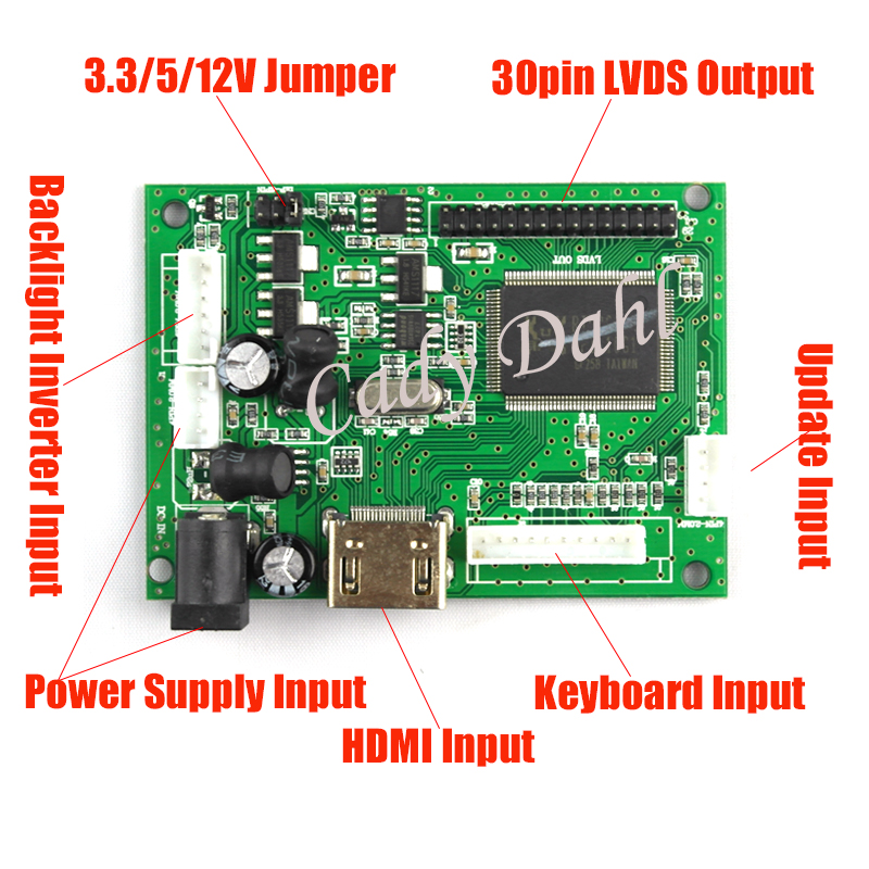 US $19 88 15% OFF|HDMI LVDS LCD Controller Board+Backlight Inverter+30Pins  Cable for Ipad 2 1024X768 9 7