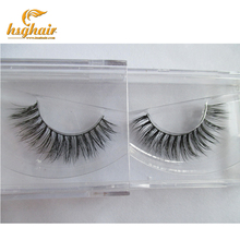 New 1 pair 3D mink eyelash wholesale 100% real mink fur Handmade crossing lashes individual strip thick lash A15