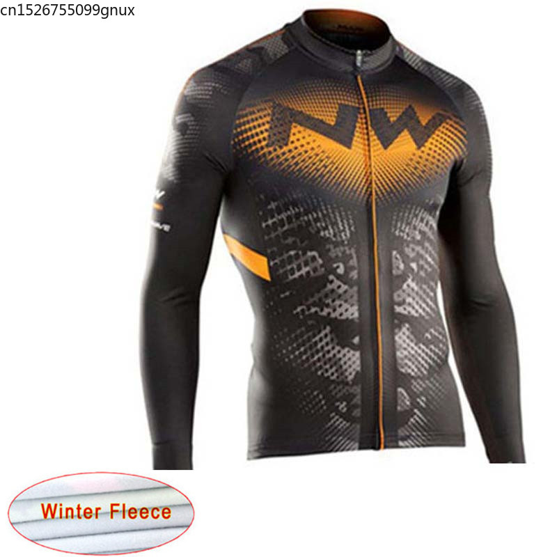NW 2019 new Keep Warm Winter Cycling Jersey Thermal Fleece Bike Cycling Clothing Racing Bicycle Maillot Ropa Ciclismo Hombre C28(China)