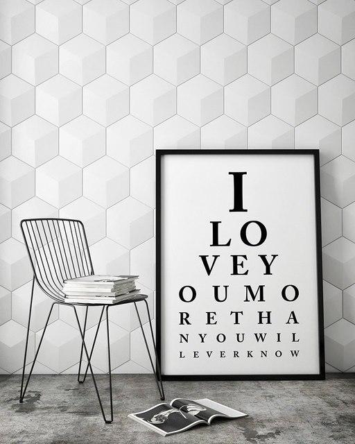Eye chart wall art  love you scandinavian canvas print printable also rh aliexpress