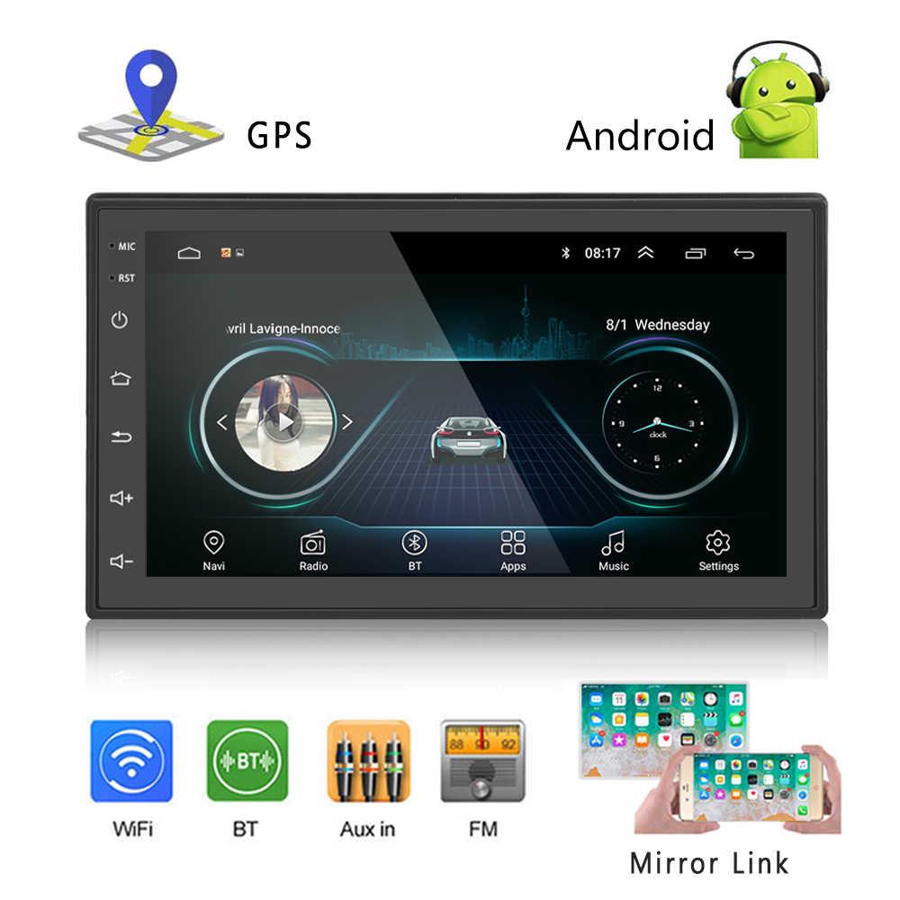 Hikity 2DIN Xe Đài Phát Thanh Android Đa Phương Tiện Video Autoradio 2 Din 7 ''Màn Hình Cảm Ứng Bluetooth FM Wifi Âm Thanh người Chơi Âm Thanh Nổi