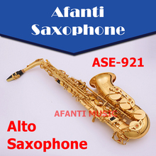 Afanti Music Eb tone / Brass body / Gold finish Alto Saxophone (ASE-921)