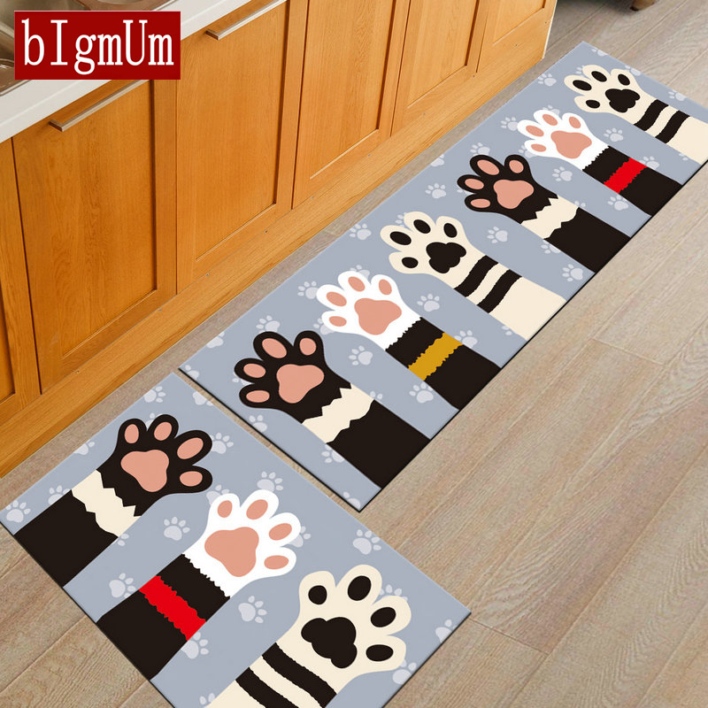 Thick Cartoon Carpets For Living Room 3D Fish/Cat Paw/Animal Print Chenille Memory Rugs Super Soft Non-slip Absorbent Kids Room