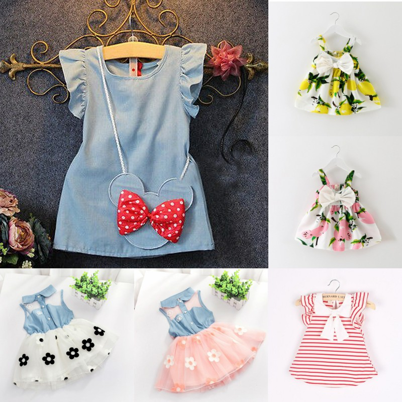Summer Children's Clothing Baby Princess Dress Fashion Girl Vest Sleeveless Embroidered Dress  Girl Dress Kids Dresses For Girls