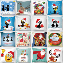 Hot sale Christmas santa  pillow case square Pillow cute cartoon covers size 45*45cm