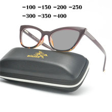 MINCL модные женские туфли cat Близорукость Оптические солнцезащитные очки Защита от солнца фотохромные готовые оптика очки от близорукости рецепт очки рамки NX