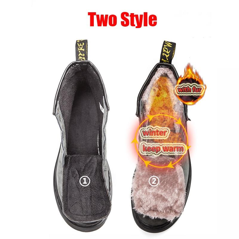 Unisex Winter Warm Genuine Leather Doc Dr Martins Shoes Motorcycle Design Retro  Men Shoes Dr. Martens Boots Men Ankle Boots-in Motorcycle boots from Shoes  ... 4eb871787f77