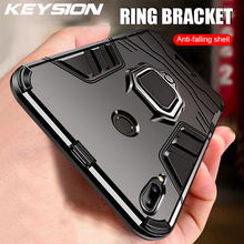 KEYSION Shockproof Armor Case for Samsung Galaxy A30 A20 A10 A50s A30s Stand Ring Phone Cover for Samsung A70 A40 A60 A80 90 A50 cover for samsung galaxy a10 a20 a30 a40 a50 a60 a70 2019 silicone shockproof phone case luxury armor back cover ring stand case