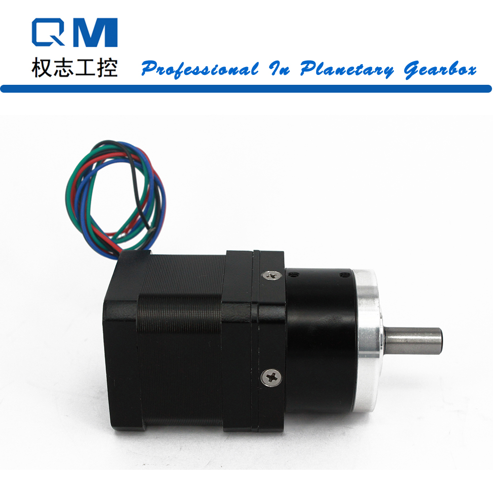 Nema 17 gear stepper motor L=40mm with planetary reduction gearbox ratio 5:1 for 3D extruder cnc robot pump 57byg gear stepper motor ratio 5 1 gearbox l76mm 3 0a 9n m 2phase nema23 stepper motor for cnc router