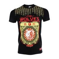 VSZAP Kanji Mưa rắn Wolf chiến đấu MMA t áo chiến với tay áo ngắn muay thái áo sơ mi jujitsu nam cơ bắp rashguard cotton