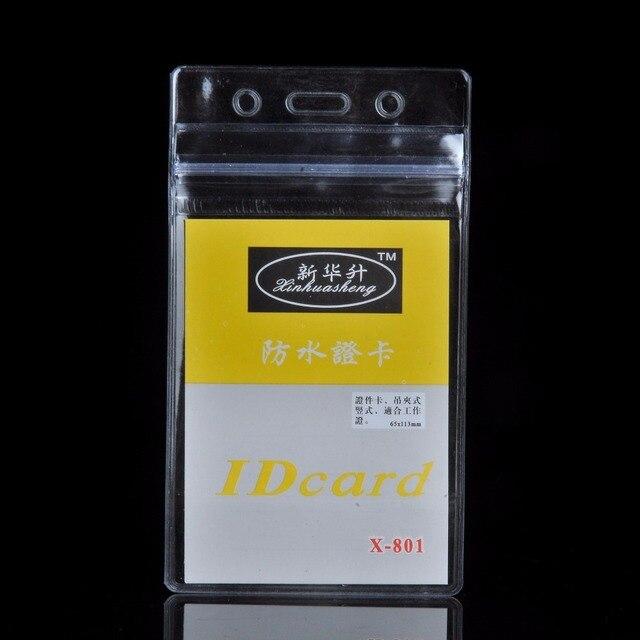 10 pièces/lot pratique clair PVC porte-Badge travail exposition ID nom étanche porte-cartes livraison gratuite