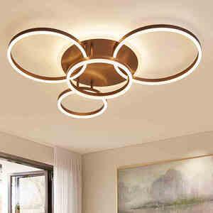 Image 3 - חום/לבן led נברשת לסלון חדר שינה מטבח נברשת Inddor בית תאורה מודרני נברשת תאורה lampadari